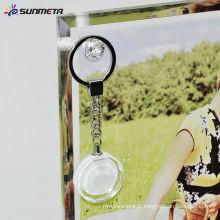 Sublimação cristal / personalizado / metal keychain para sublimação