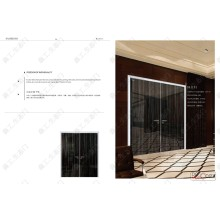 Luxueux style à haute brillance Double Swing Home Door