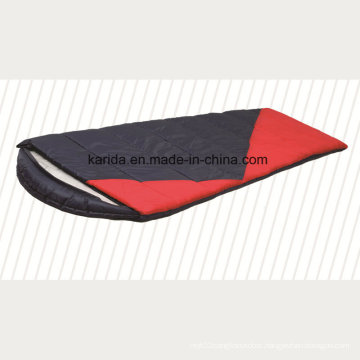 Polyester Mixed Color Cap Envelop Camping Sleeping Bag