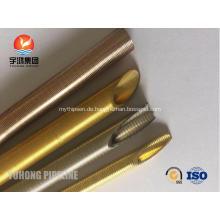 Nahtlose Messing niedrig Fin Tube ASME SB111 C44300 für Kondensator und Öl Kühler