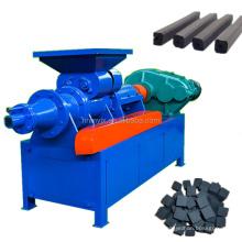 Peanut Shell Charcoal Rod Moulding Stick Extruder Square Shape Coal Press Machine