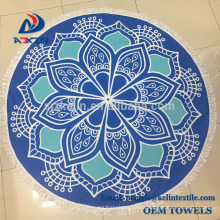 100% Premium Cotton Round Beach Towel with Mandala Stylish Design