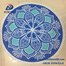100% Premium Cotton Round Beach Towel with Mandala Stylish Design