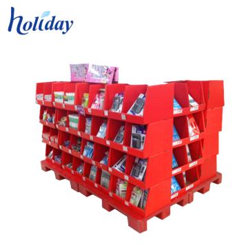 Estante de exhibición de las mercancías del supermercado del fabricante de China, estante resistente de las mercancías de la garantía material para la tienda