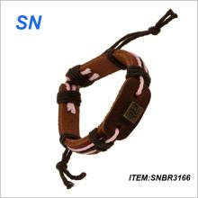 2014 Newest Design Most Popular Bracelet Leather Bracelet (SNBR3166)