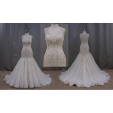 Pleated Mermaid China Wedding Dress