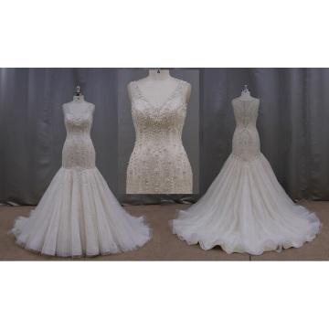 Кнопка иллюзия вырезом свадебное платье