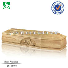 quality europe coffin with carving mother maria