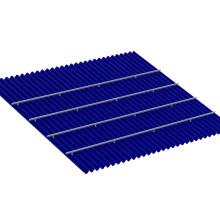 Système de montage solaire industriel à faible coût de toit de bidon de 20KW