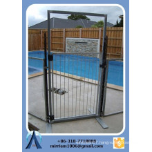 High quality hot dip galvanized temporary pool fence, swimming pool safety fence, folding swimming pool fence