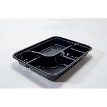 Einweg-PS-Kunststoff-Bento-Box mit Deckel