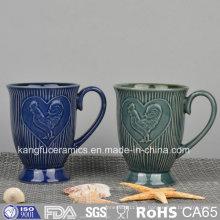Taza de cerámica grabada en relieve de forma personalizada