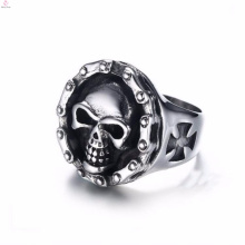Wholesale stainless steel engraved jewelry gothic skull rings