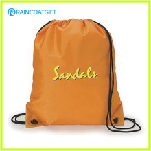 Promotional Factory Price Logo Printed Custom Nylon Drawstring Backpack