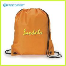 El logotipo promocional del precio de fábrica imprimió la mochila de nylon de encargo del lazo