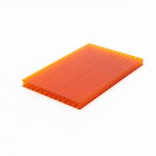 Folha oca de policarbonato de duas paredes de material de construção