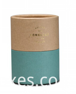 cylinder kraft paper box for essencial oil packaging