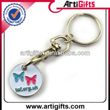 2013 Soft enamel metal trolley token key rings