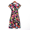 Women Short Sleeve Printing Dress