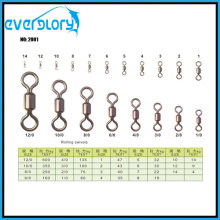 High Quality Nicle/Gold/Silver Rolling Swivel Fishing Swivel