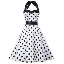 Grace Karin Robe d'été Femmes Vêtements 2017 Robe balançoire arrière Plaid Robe Vintage 60s 50s Rockabilly Pin up Dress CL010496-3