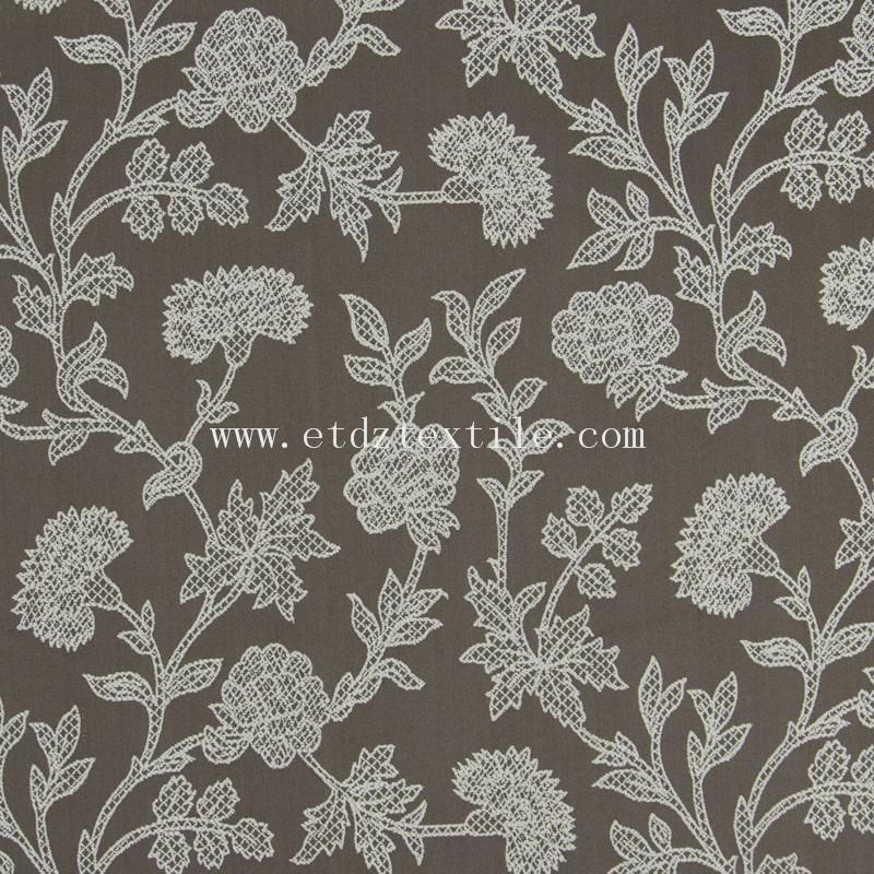 embroidery cheap pirce fabric curtain