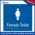 Plaque de signalisation de toilette en plastique ABS