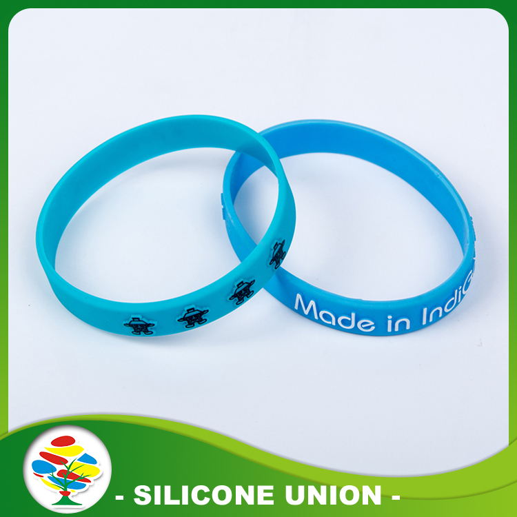 Embossed Print Silicone Bracelet