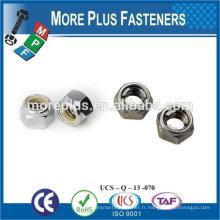 Taiwan en acier inoxydable 18-8 en laiton en cuivre en laiton en laiton écrou de blocage M14x1.25 noix
