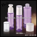 purple glass 100ml cosmetic foam pump bottle with clear lid, cosmetic glass bottle, skin care glass lotion bottle
