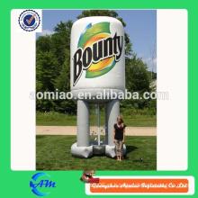 Máquina inflável popular do cubo de dinheiro para anunciar, anunciando a caixa inflável do cubo do dinheiro