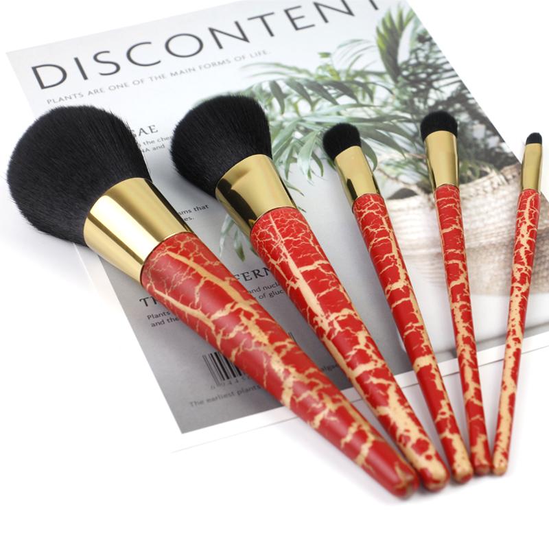 5pcs kabuki makeup brushes set