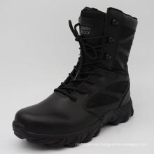 2016new nuevo diseño de alta calidad negro policial botas botas militares