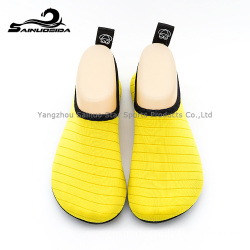 yellow neoprene waterproof diving shoes