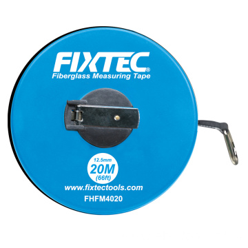 Fixtec Hand Tool 20m 30m 50m Fiberglass Measuring Tape With Cheap Price