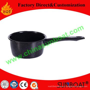Casserole de lait émail en acier au carbone 1qt