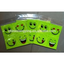 PVC Custom Safety Reflective Product Smiling Face Sticker