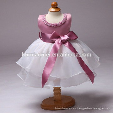 Vestido de la muchacha del bautismo del cumpleaños del bebé del bebé 2017 vestido de la muchacha del bebé de 1-6 años para el bebé recién nacido