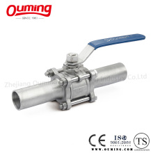 3 Piece Non-Standard Lengthen Butt Welding Stainless Steel Ball Valve