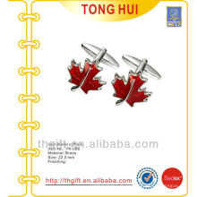 The Red Maple leafs metal cufflinks for novelties