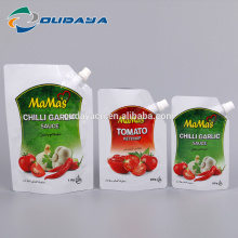 Custom Designed Chilli Garlic Sauce Packaging with Spout
