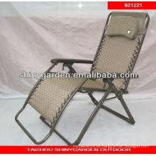 jardín relajarse silla plegable de hierro forjado