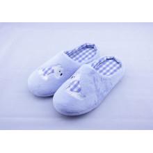 Zapatillas de interior, zapatillas de dormitorio de lujo de tela suave de algodón al por mayor de mujeres