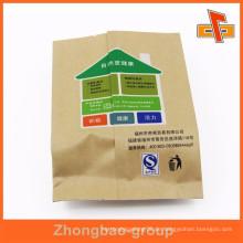 Kundenspezifische rückseitige versiegelte Zwickel billige Kraftpapiertüten für Nüsse