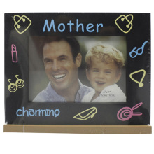 Baby 4x6inch Silk Screen I Love Mother Photo Frame