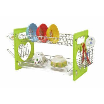 A cozinha de moda fornece uma tigela durável, uma prateleira de plástico para cozinha, uma prateleira de drenagem, uma prateleira dupla, uma prateleira de drenagem, uma mesa de talheres