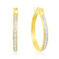 Горячие продажи 925 серебряных обручей Серьги CZ ювелирные изделия Золотая пластина