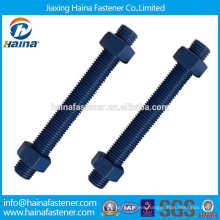 Made in China Alloy Steel B7 Blue Teflon Grade 4.8 8.8 10.9 All Thread Rod