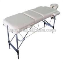 camilla de masaje con pierna de aluminio