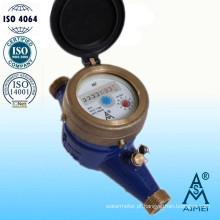 Medidor de água fria Multi jato seco tipo bronze